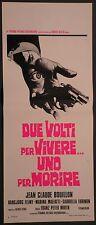 Locandina DUE VOLTI PER VIVERE..UNO PER MORIRE 1°ED.IT.1975 JEAN CLAUDE BOUILLON