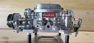 Edelbrock Marine Carburetor 600 CFM Electric Choke #1409 Factory Rem