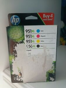 HP 950XL Black and 951XL Cyan Magenta Yellow Ink Cartridges Pack of 4 (C2P43AE)