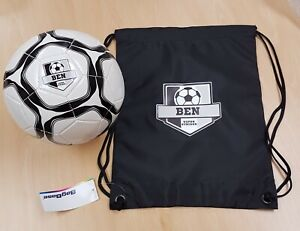Personalised Size 3 or Size 5 Football and Kit  Bag