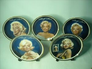 Choose ONE OR MORE Gold Collection Plates MARILYN MONROE Plate 69th Anniversary