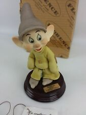 Giuseppe Armani Figurine, Walt Disney Snow White Dwarf Dopey, Signed