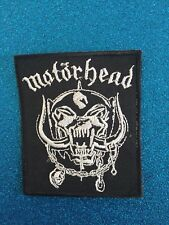 Motörhead Snaggletooth Black Stitched Group Music Iron ON Sew Patch Clothing