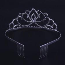 Princes Bridal Pageant Rhinestone Crystal Wedding Prom Crown Tiara Veil Headband
