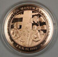 Bronze Proof Medal Washington Monument Dedicated Feb 21 1885