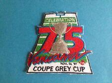 Rare Vintage 1987 Grey Cup CFL Football Hat Jacket  Patch Crest Eskimos