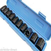 "Impact Socket Set 1/2"" Shallow Drive Metric Wrench Air Guns Tools 10 - 24mm 6PT"