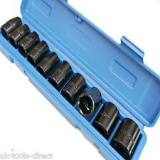 "Impact Socket Set 1/2"" Shallow Drive Metric Wrench Air Guns Tools 10 - 24mm 6PT"