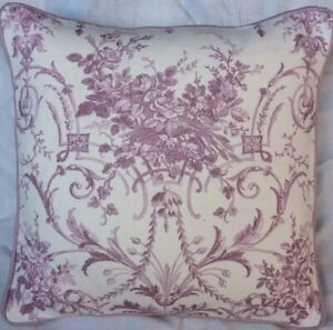"16"" Laura Ashley Tuileries  Amethyst Fabric Cushion Cover Piped"