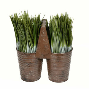 "Vickerman 10"" Potted Grass"