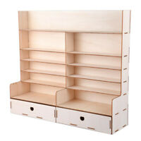 Wooden Paint Rack Stand Pigment Ink Bottle Tool Storage w/ Cabinet Organizer