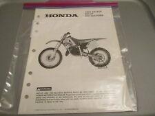 Honda OEM Set Up Instructions Manual 1991 CR125 R CR125R