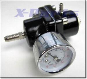 Regulador presión combustible universal negro indicador todos los coches nuevo