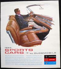 Oldsmobile Starfire, Jetfire & Cutlass SPORT AUTO BROCHURE DI VENDITA 1963 (USA)