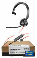 Plantronics Blackwire 3315 USB-A Headset (213936-01, BW3315) Brand New 2 Yr Warr