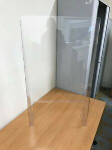 Clear perspex virus shield screen to maintain distancing for trade retail
