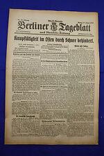 BERLINER TAGEBLATT (17.1.1916): Kampftätigkeit im Osten durch Schnee behindert