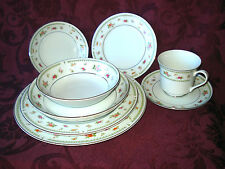 VINTAGE ABINGDON PINK ROSE FINE PORCELAIN CHINA/MADE IN JAPAN-8pc. PLACE SETTING