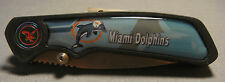 MIAMI DOLPHINS ABSTRACT LOGO TEAL FOLDING POCKET KNIFE