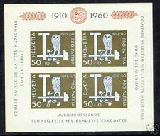 Switzerland  1960  Scott # B297  MNH Souvenir Sheet