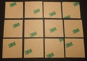 3M Thermal Adhesive Tape for Heatsink 25.4 x 25.4 mm x 12 pcs. Square