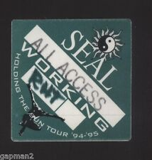 """Seal 1994 Holding The Sun Tour 3"""" x 3"""" All Access Otto Peel Back Cloth Pass"""