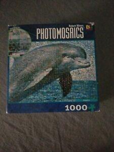 Photomosaics Dolphin Jigzaw Puzzle 1000 pieces Robert Silvers Buffalo-Great Buy!