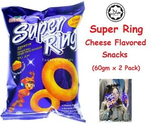 Malaysia's Oriental Super Ring Cheese Flavored Snacks (60gm x 2 Packs)