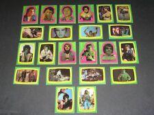 The Incredible Hulk - Complete Card Set Sticker (1-22) 1979 @ Ex + / Near Mint