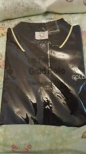 THOMSON GOLD TUI Polo shirt Size 12-14 Black Ladies