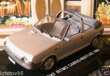 FIAT RITMO S65 CABRIOLET BERTONE 1982 1/43 ITALIA GRISE DEAGOSTINI ROADSTER