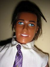 Totally Cool Ken - rooted brown hair; bent arms; twist waist; pants, shirt & tie