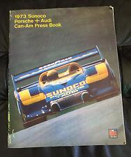 Vintage 1973 Sunoco Porsche + Audi Can-Am Press Release Kit Book 917-30 Turbo