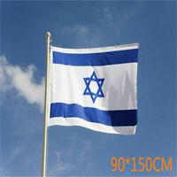 Blue White Israeli Flag Flower Badge Pin Button Israel Holy Land Star of David