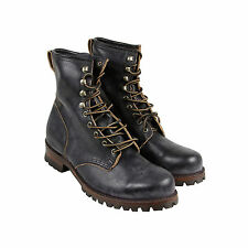 Frye Logger Mens Black Leather Casual Dress Lace Up Boots Shoes 11