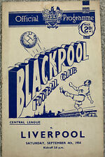 More details for blackpool reserves v liverpool reserves 1954/55
