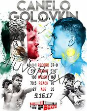 Canelo vs Golovkin Boxing Poster 4LUVofBOXING Alvarez GGG 11x17 New MX KZ Flag