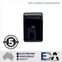Black 1 Gang Light Switch Gloss Single  Slim Wafer Slimline Electrical One