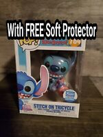 Funko Pop ! DISNEY  STITCH ON TRICYCLE #784 w Protector 💥💥 Funko Shop Exclusiv