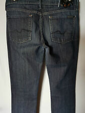 """WOMEN'S JEANS 7 FOR ALL MANKIND STRAIGHT STRETCH SIZE 11/29"""" LEG 34.5"""" FREE POST"""