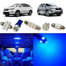 15 Piece Blue LED interior conversion kit for 2010-2014 Lexus RX350 RX450h LR3B