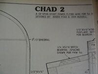 "MODEL AIRCRAFT PLAN CHAD 2 50"" FLYING WING  ORIGINAL"