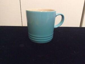 Le Creuset Stoneware Coffee Mug Cup 12oz Turquoise Blue