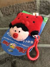 2010 My Pillow Pets Adorable Red Ladybug Backpack Clip Brand New - Hard To Find