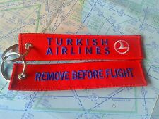 Turkish Airlines remove before flight keyring keychain Turkey Türkiye