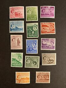 Mauritius 1953 Short Set Mounted Mint Or Much Better