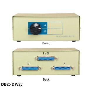 Kentek DB25 2 Way Data Transfer Switch Box RS232 Parallel Female PC MAC Printer