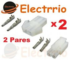 EL2227 2 Pares Conectores Mini Tamiya 2 Macho + 2 Hembra Electronica Minitamiya