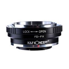 K&F Concept FD to Fuji FX Camera Lens Mount Adapter Canon FD Lens to Fujifilm FX