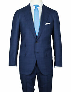 Cesare Attolini Suit IN Dark Blue With Glencheckmuster From Super 200'S Wool